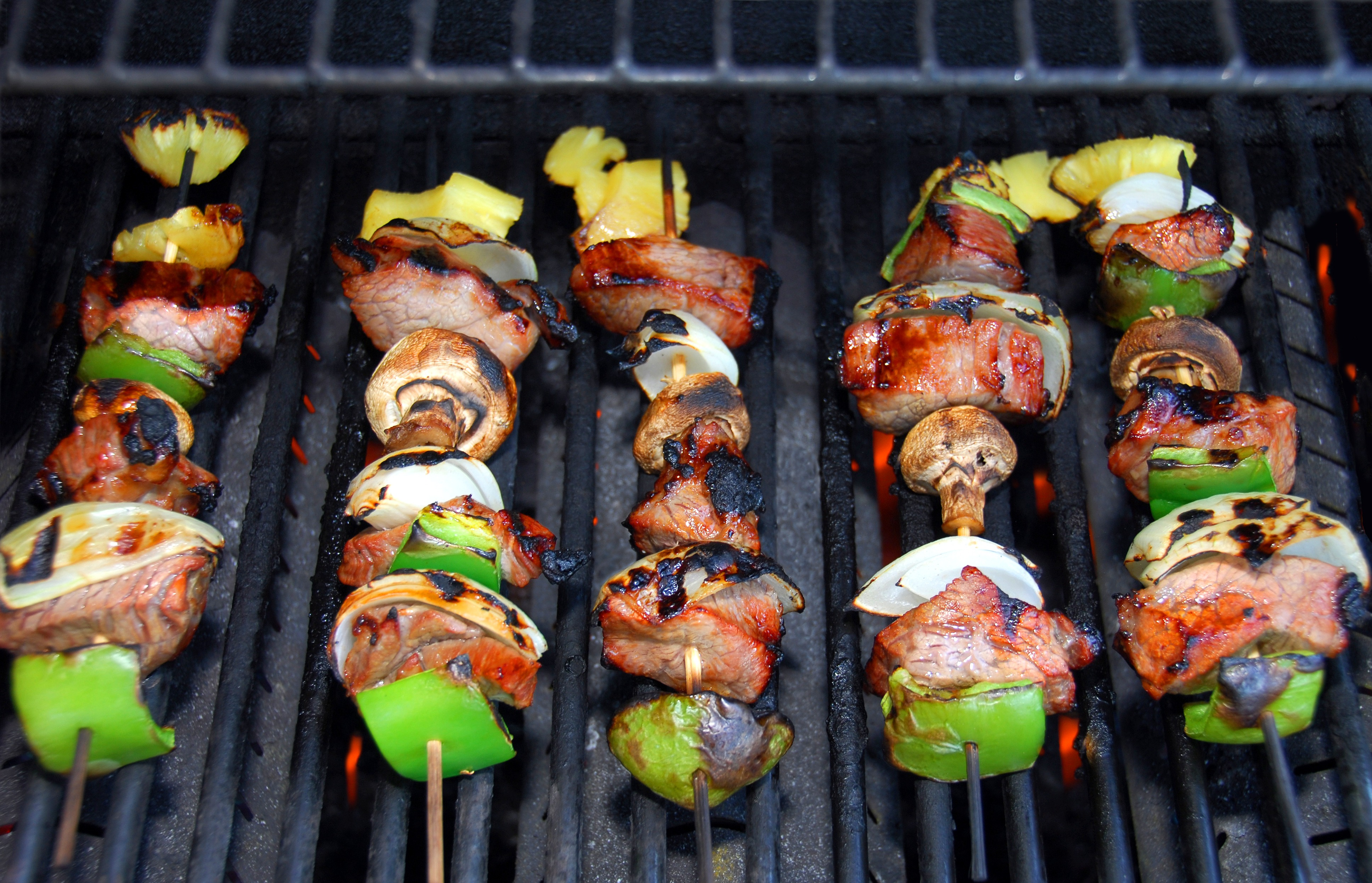 barbeque with vegetable